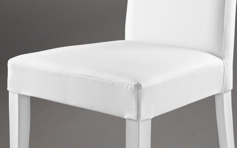 Silla Similpiel blanco - Nancy |  EAT3 05