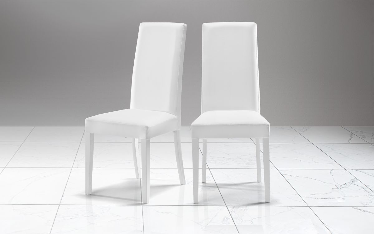 Silla Similpiel blanco - Nancy |  EAT3 01